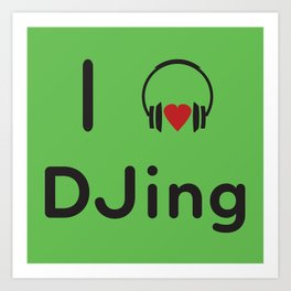 I heart DJing Art Print