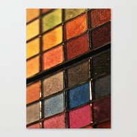 make up Canvas Prints featuring Make up by lescapricesdefilles