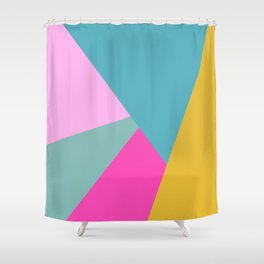 Geometric Color Block #11 Brights Shower Curtain
