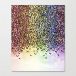 rainbow of butterflies aflutter Canvas Print