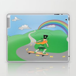 Rusty the Longboarding Leprechaun Laptop & iPad Skin
