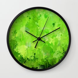 Splashes of Color, green Wall Clock