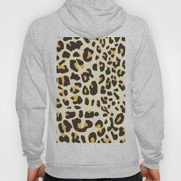 Trendy brown black abstract jaguar animal print Hoody