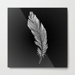 Invert Feather Metal Print