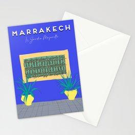 Le Jardin Majorelle, Marrakech (Marrakesh), Morocco Travel Poster Stationery Cards