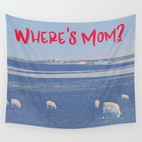 mom Wall Tapestries featuring Where's Mom? by Rendra Sy