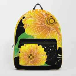 Helianthus Midnight - The Color of Vitality, Intelligence, and Happiness Backpack