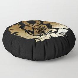 Peru Golden Shield Floor Pillow
