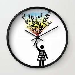 The Right way to use your mind Wall Clock