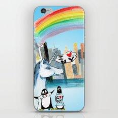 Unicorn Penguin Love NYC iPhone & iPod Skin