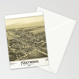 Aerial View of Fleetwood, Pennsylvania (1893) Stationery Cards