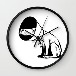 Cone of shame Wall Clock