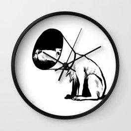 Cone of shame Wall Clock