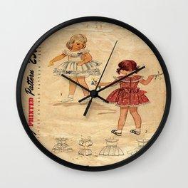 Childrens Vintage Little Girls Play Wall Clock