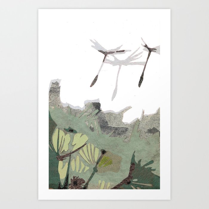 Dandelion Puffs Art Print