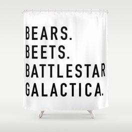 Bears Beets Battlestar Shower Curtain
