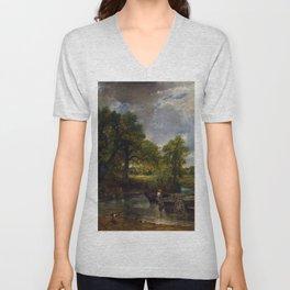 John Constable - The Hay Wain Unisex V-Neck