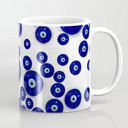 Greek Blue Glass Evil Eye Amulet Coffee Mug