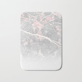 Pastel Pink & Grey Marble - Ombre Bath Mat
