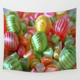 Multi-Colored Striped Candy Wall Tapestry