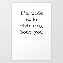 Wide Awake Print Art Print