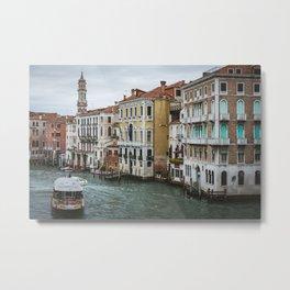 Waterbus on the Canal Grande Metal Print