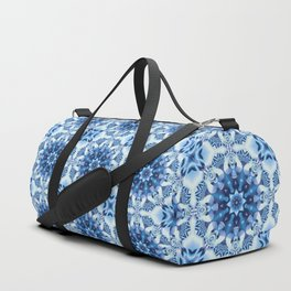 Tribal patterns in blue tones Duffle Bag