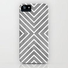 Stripes in Grey Slim Case iPhone (5, 5s)