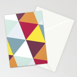 WARM AND COLD TRIANGLES Stationery Cards