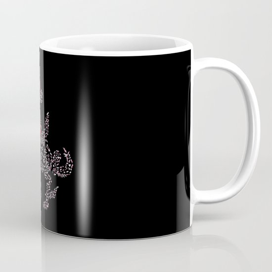 Okami Amaterasu - Cherry Blossom Form [BLACK] Coffee Mug