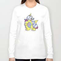 digimon Long Sleeve T-shirts featuring gabu by tinypuppyprince