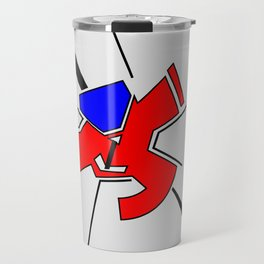 Abstract geometrical pattern in constructivism style Travel Mug