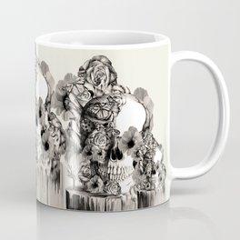 Life on a pedestal, floral skull Coffee Mug