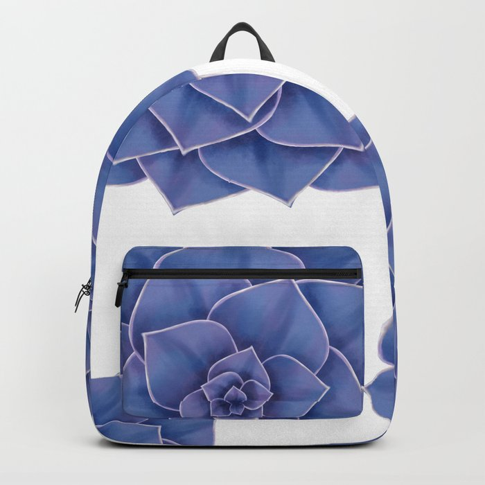 Elegant Big Purple Echeveria Design Backpack