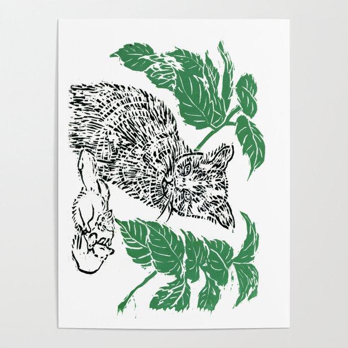 woodblock print Poster