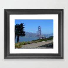 Golden Gate Bridge from the Presidio Framed Art Print