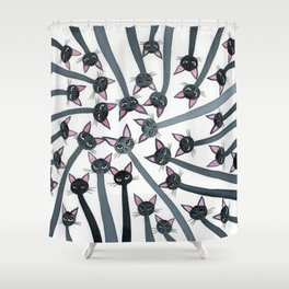 Barmuda Whimsical Cats Shower Curtain