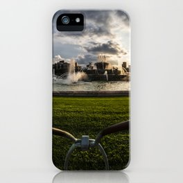 Fisheye view of Chicago's Buckingham Fountain iPhone Case