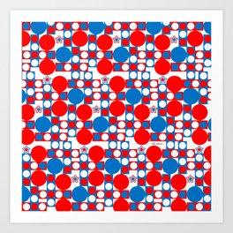 Red White & Blue Patriotic Modern Print Art Print