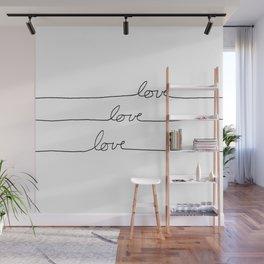 Cursive Love Wall Mural