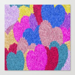 The Fragmented Hearts Canvas Print