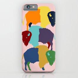 Pop Art Buffalo - American Bison Pop Art - Southwest Inspired Art iPhone Case