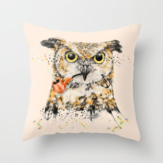 Mr.Owl II Throw Pillow