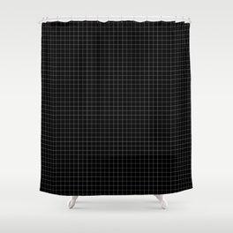 Grid in Black Shower Curtain