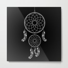 Invert Dream catcher Metal Print