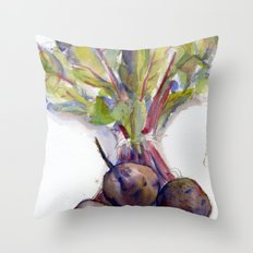 Purple Beets Throw Pillow
