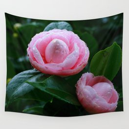 Camellias Wall Tapestry