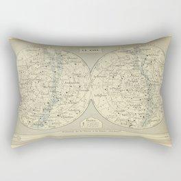 French Constellation Map Rectangular Pillow