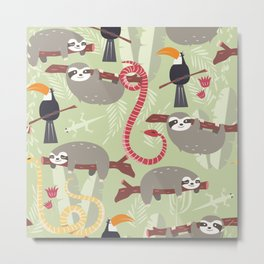 Rain forest animals 005 Metal Print