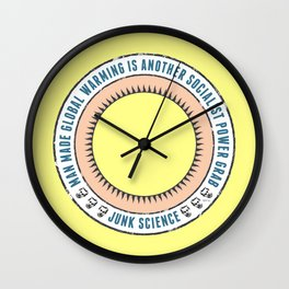 Junk Science Power Grab Wall Clock
